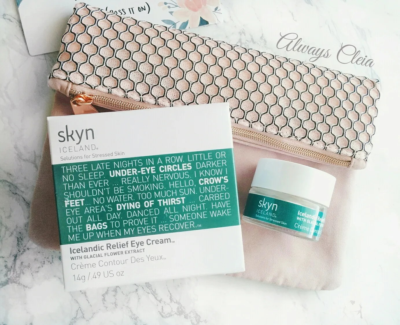 2017 March Ipsy Glam Bag - Skyn Iceland