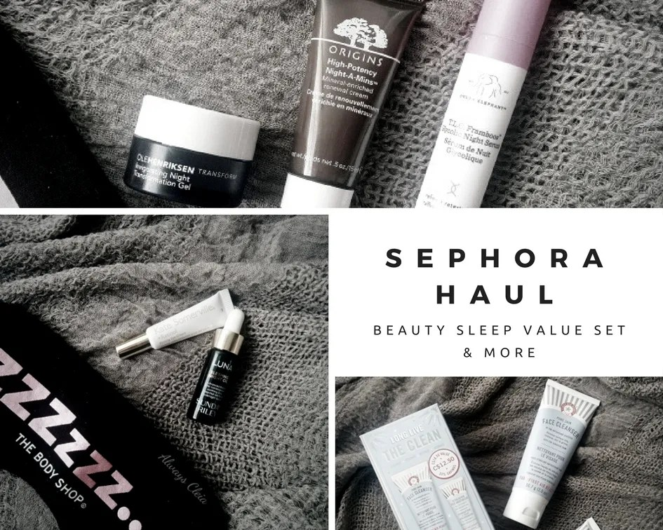 Sephora Favorites Beauty Sleep Haul