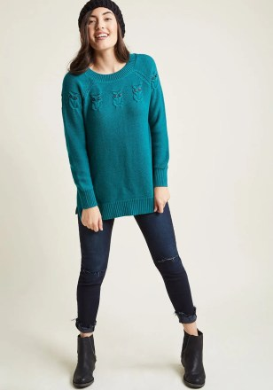 Modcloth Owl Sweater