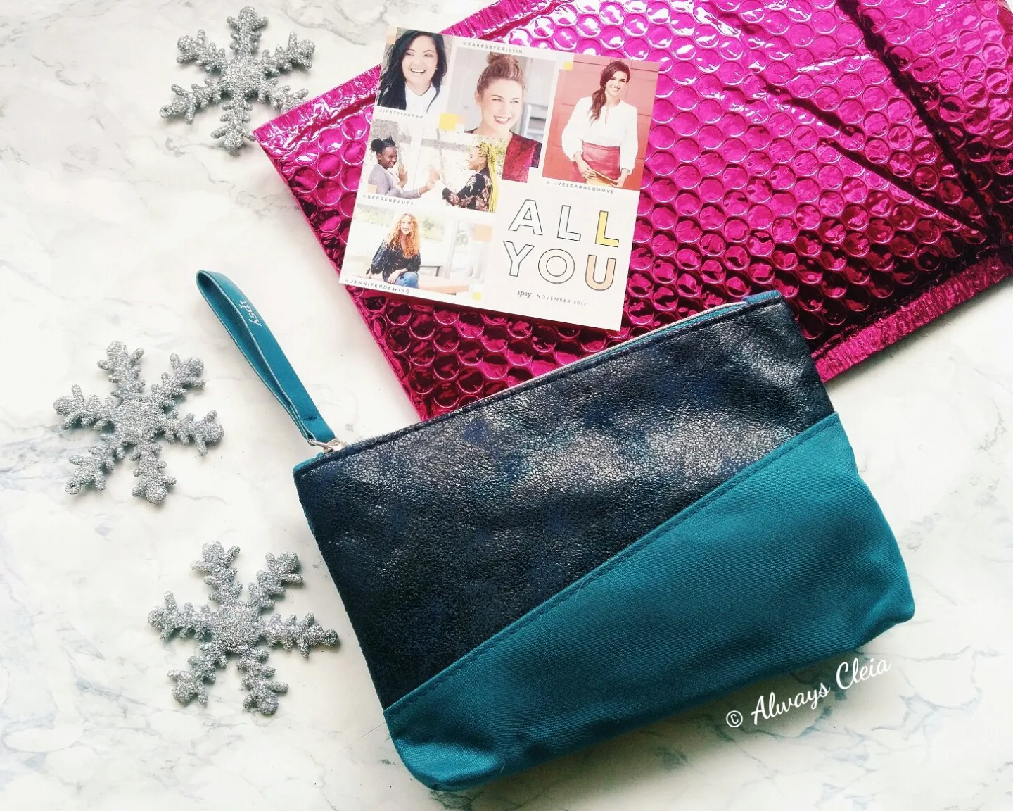November Ipsy 2017 Glam Bag Design
