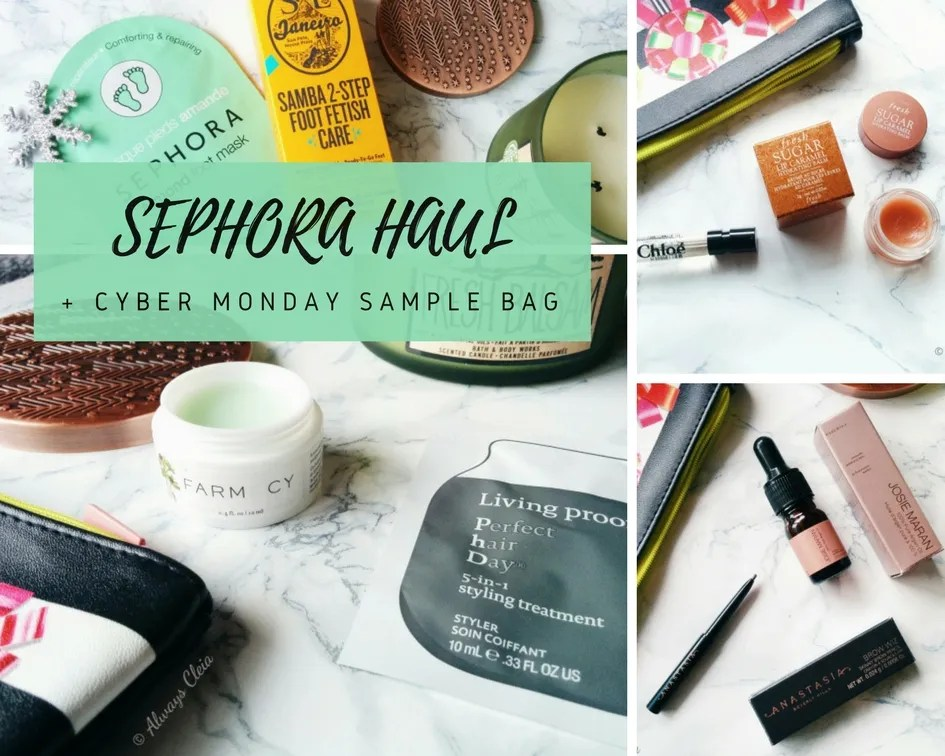 Winter Sephora Haul & Cyber Monday Deluxe Sample Bag