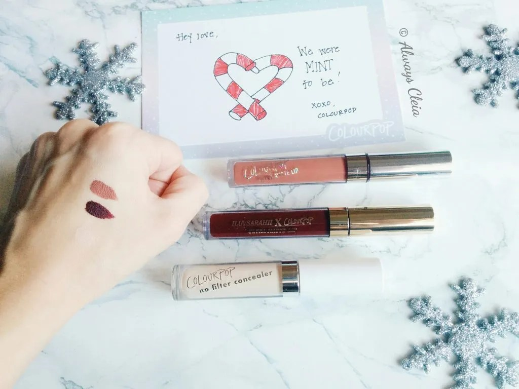 My First ColourPop Haul Swatches