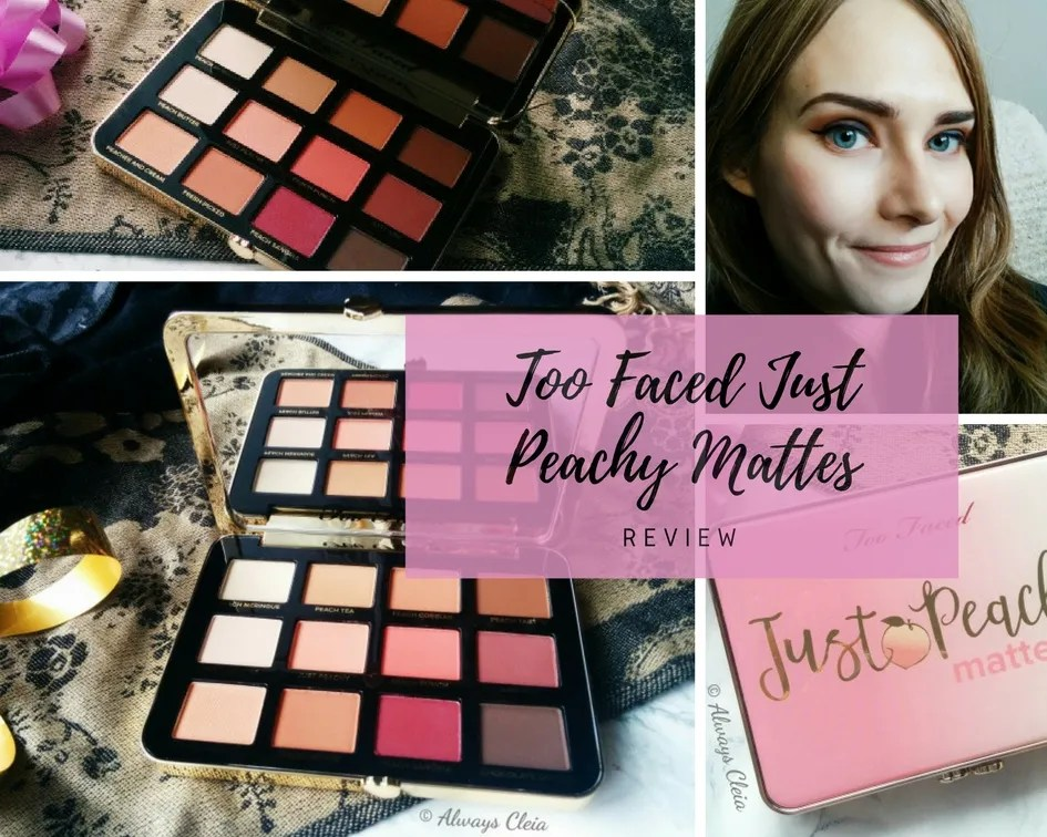Too Faced Just Peachy Mattes Eyeshadow Palette | Review + 3 Looks