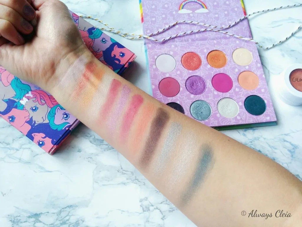 ColourPop My Little Pony Eyeshadow Palette Swatches