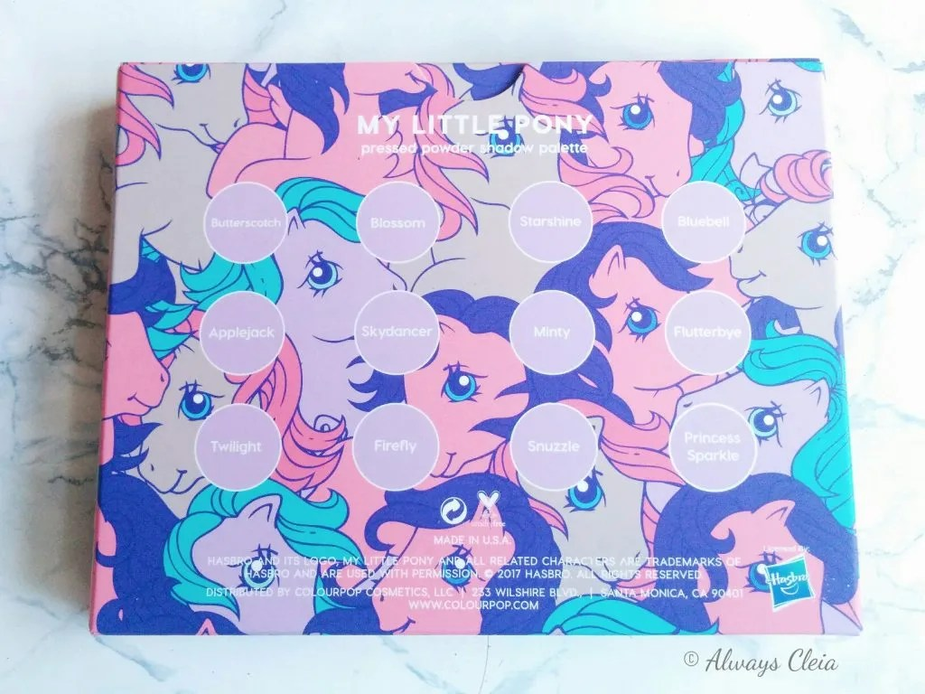 ColourPop My Little Pony Eyeshadow Palette Review