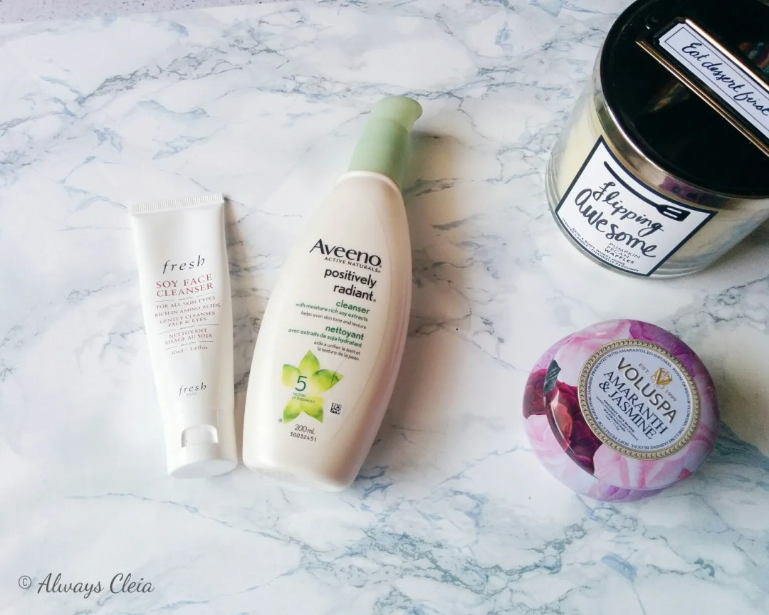 Collective Beauty Haul - Fresh Soy Cleanser & Aveeno Cleanser