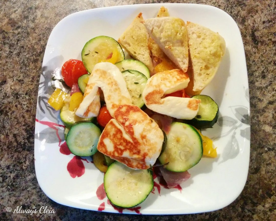 Hello Fresh Golden Halloumi & Ratatouille