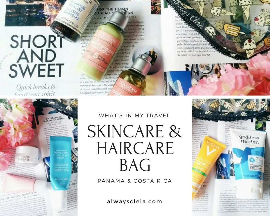 What's in my Panama Travel Bag | Skincare & Haircare