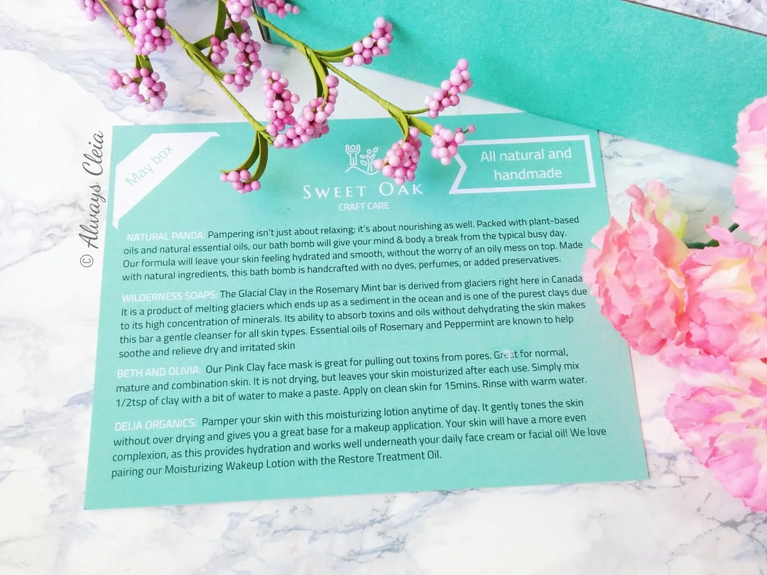 Sweet Oak Craft Care May Product Card