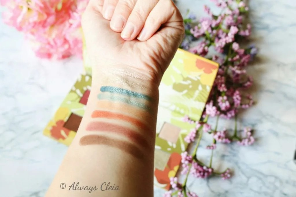 Alamar Cosmetics Reina Del Caribe Palette Swatches
