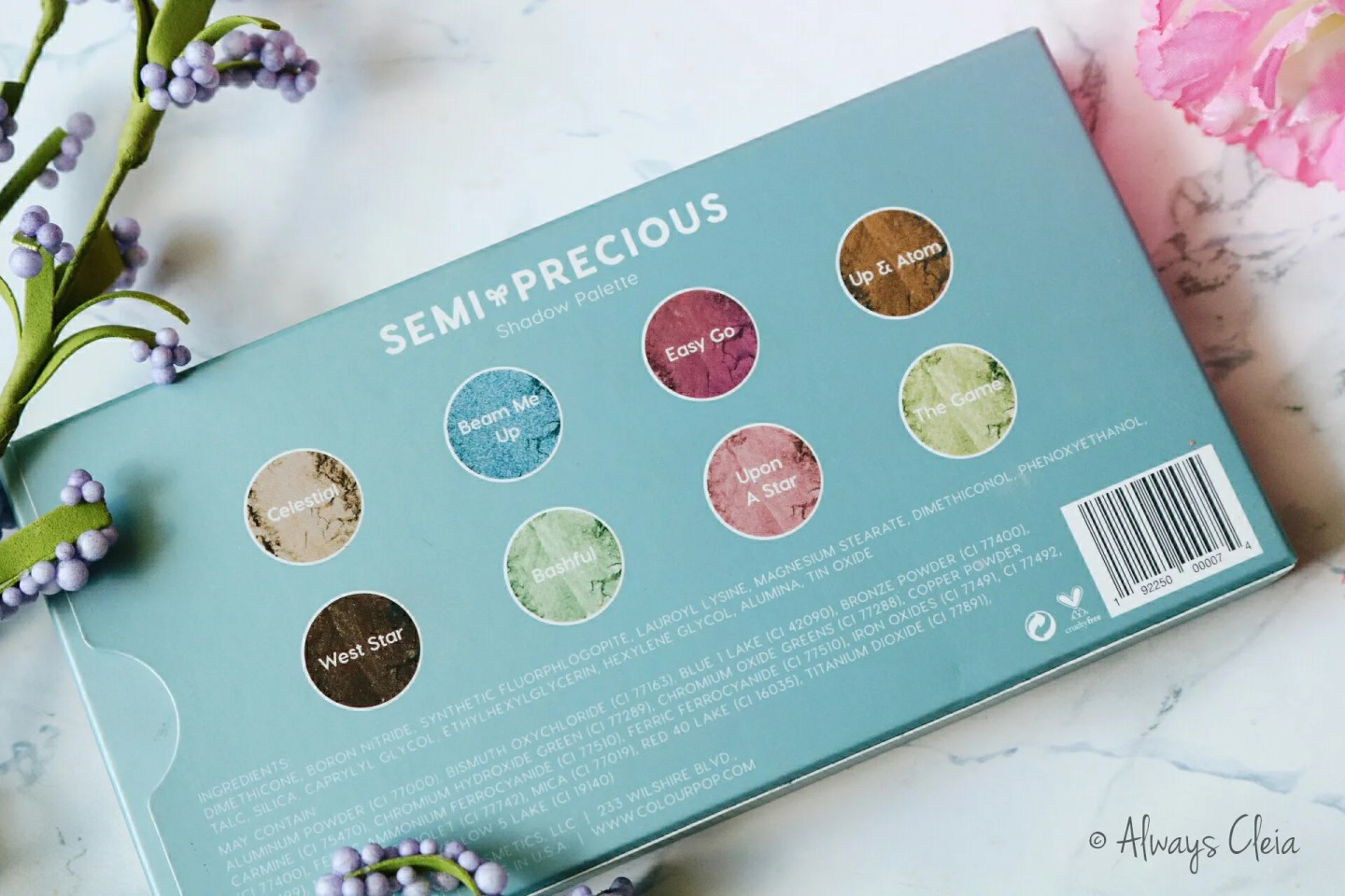 ColourPop Semi-Precious Palette Review | Packaging