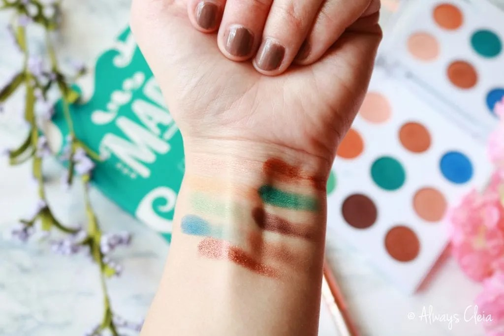 ColourPop MAR Palette Swatches