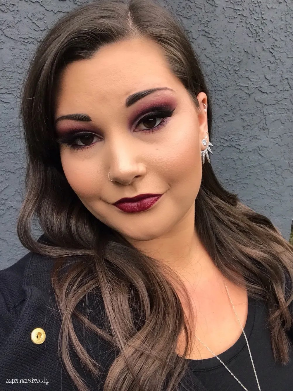 How to wear Vampy Lipstick Supernovabeauty