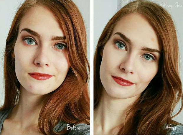 Almay Clear Complexion Makeup Foundation Before & After