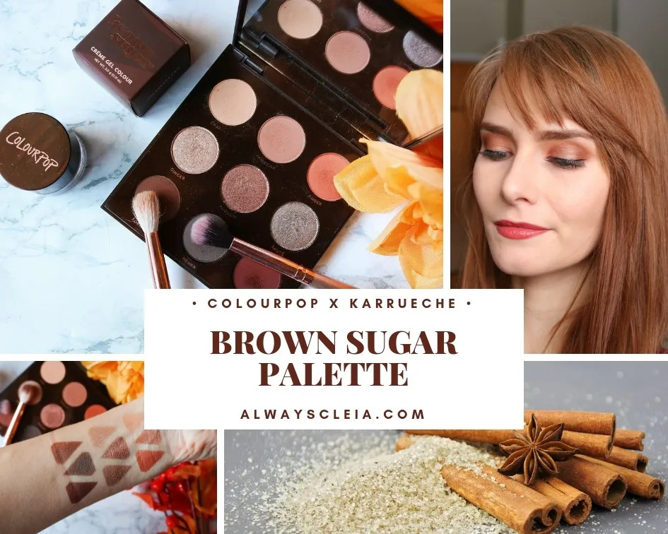 ColourPop Brown Sugar Eyeshadow Palette Review