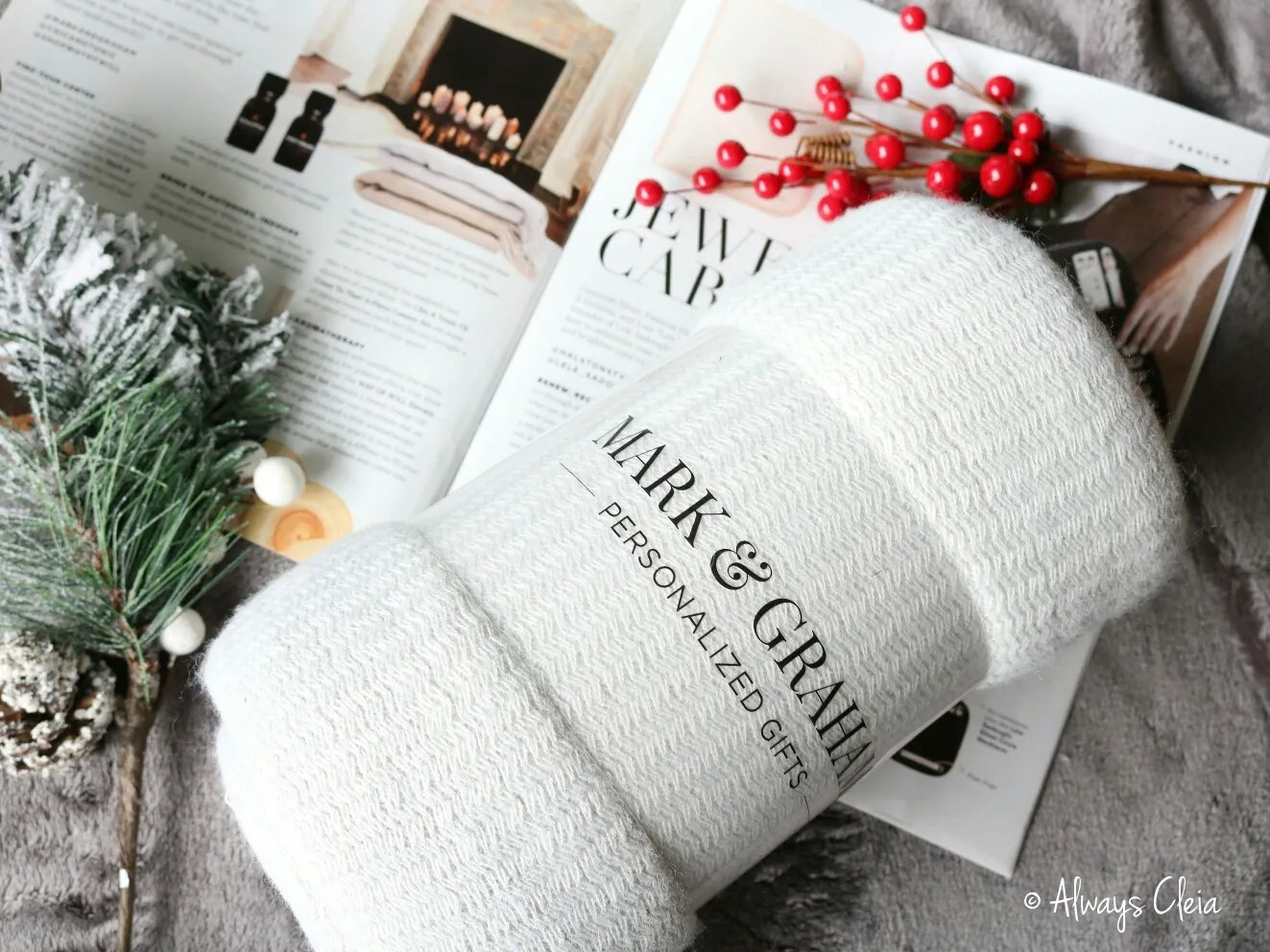 Fabfitfun Winter Box 2018 Mark & Graham Throw Blanket