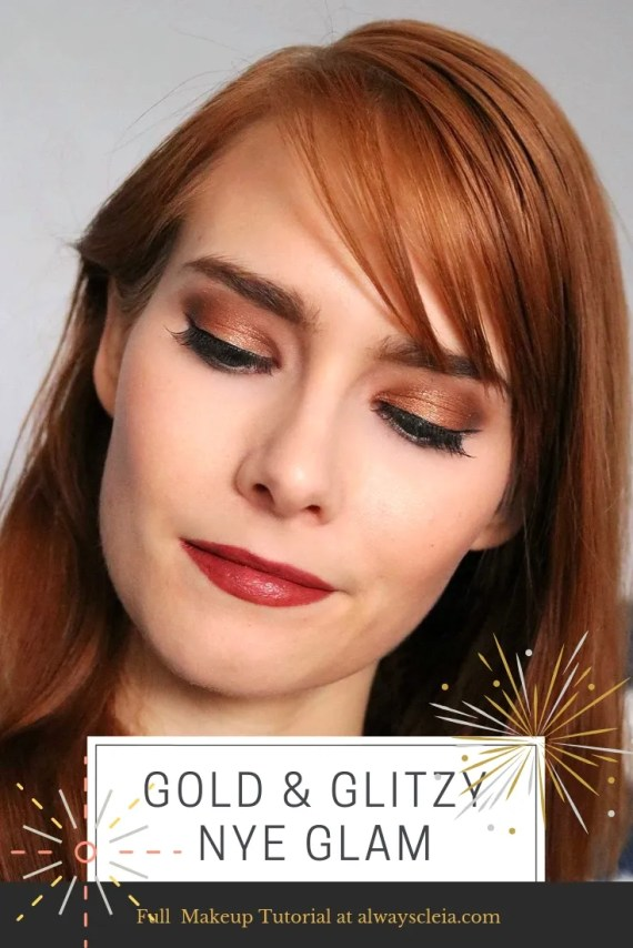Gold & Glitzy NYE Glam Makeup Tutorial