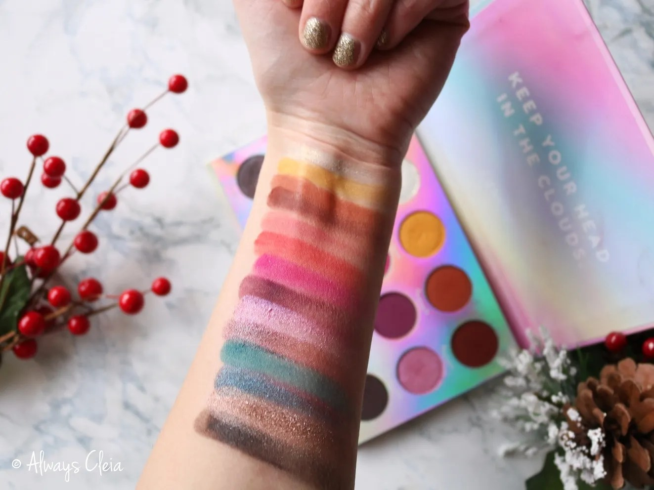 ColourPop Chasing Rainbows Palette Swatches