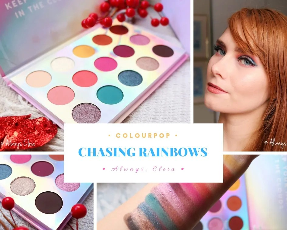 ColourPop Chasing Rainbows Palette Review, Swatches + 3 Looks