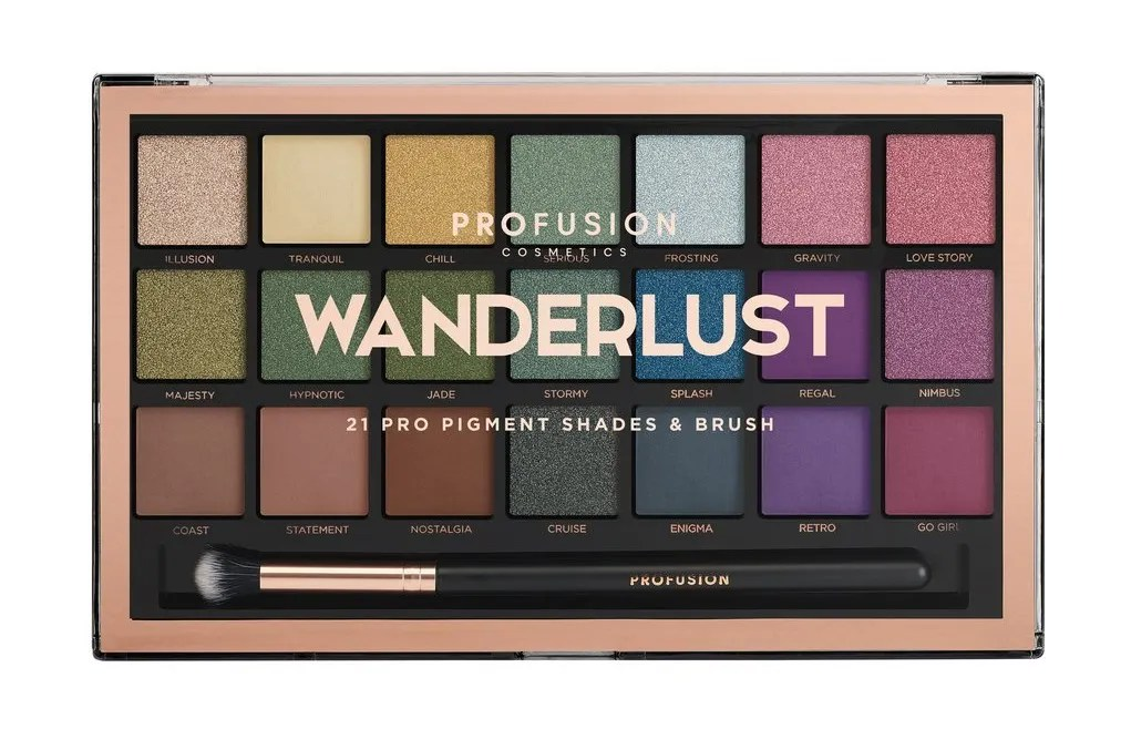 Profusion Cosmetics Wanderlust Palette