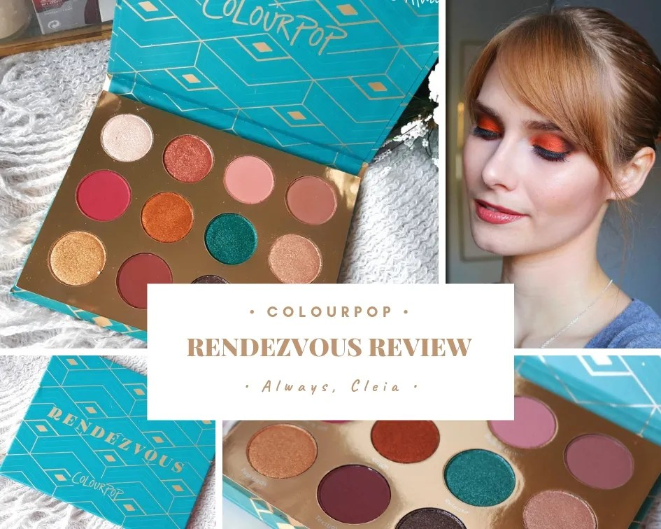 ColourPop Rendezvous Eyeshadow Palette Review & Swatches + 3 Looks