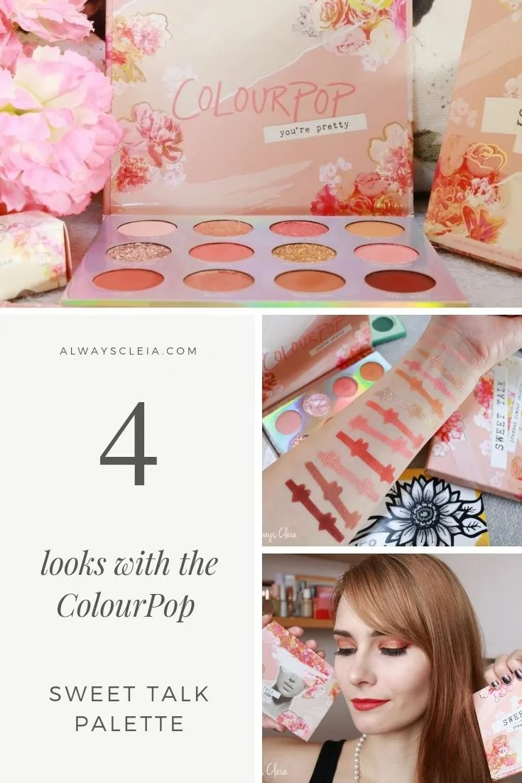 4 Looks with the ColourPop Sweet Talk Palette