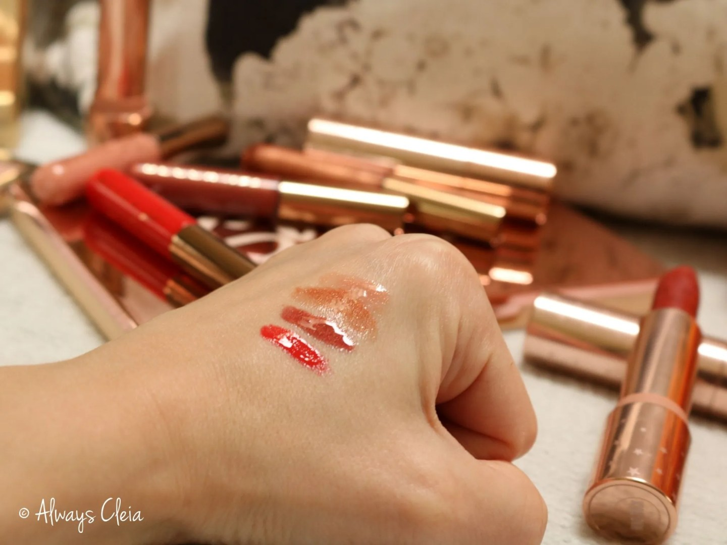 Becca Chrissy Teigan Lip Icing Swatches