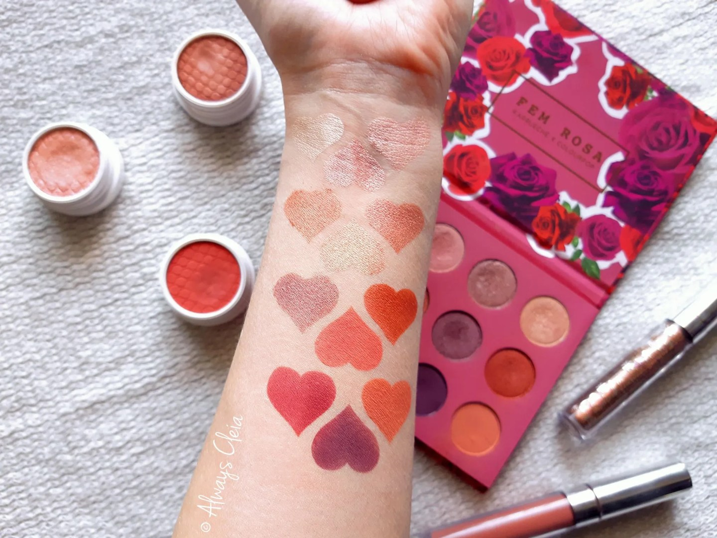 ColourPop She Palette Swatches