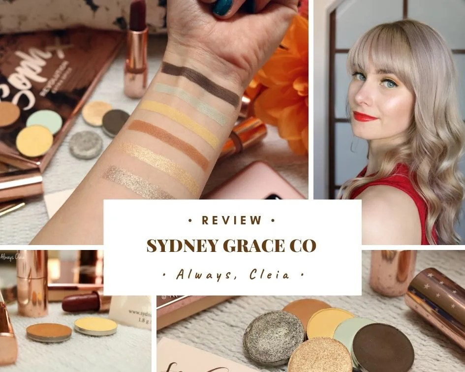 Sydney Grace Cosmetics Eyeshadow Singles Review + 3 Looks