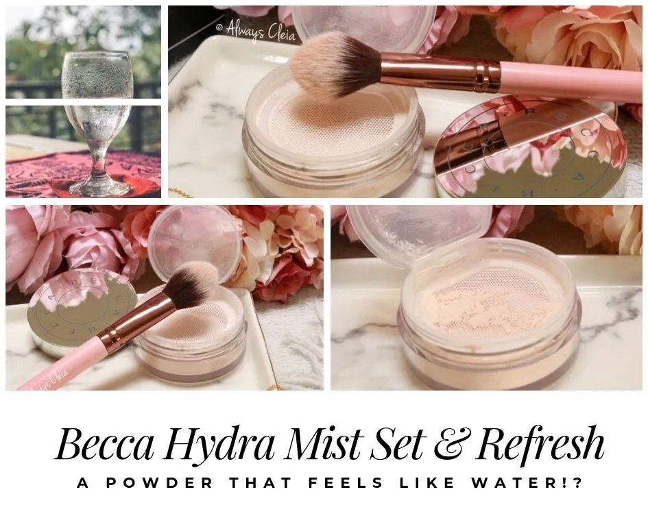 A Powder that feels like water!? Becca Hydra Mist Setting Powder Review