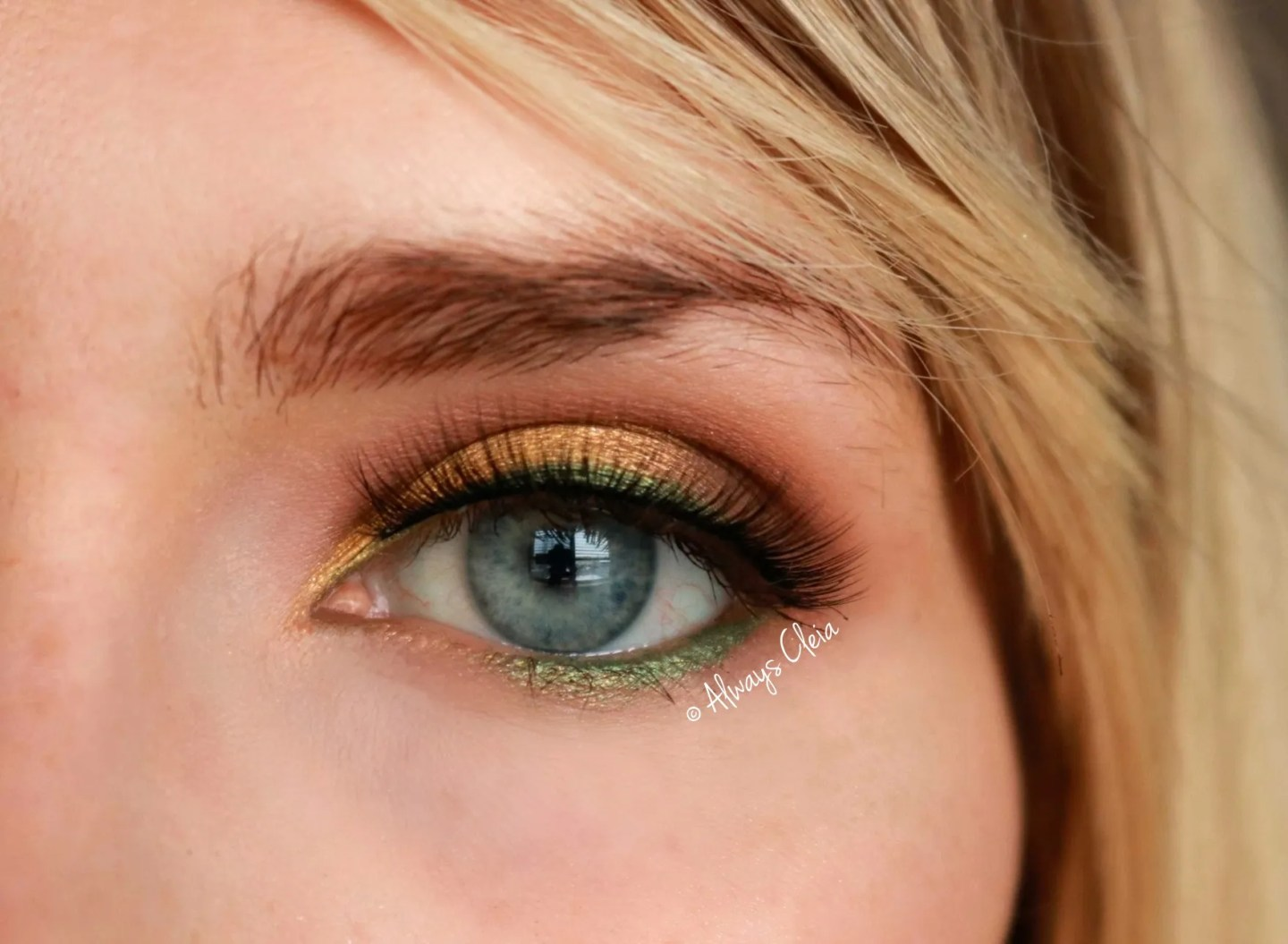 Green & Gold LookGreen & Gold Eyeshadow Look