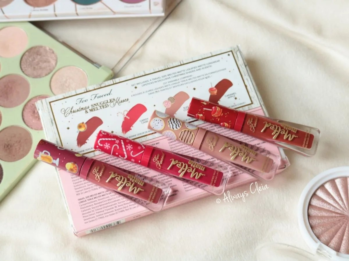 Too Faced Christmas Snuggles Lipstick Set