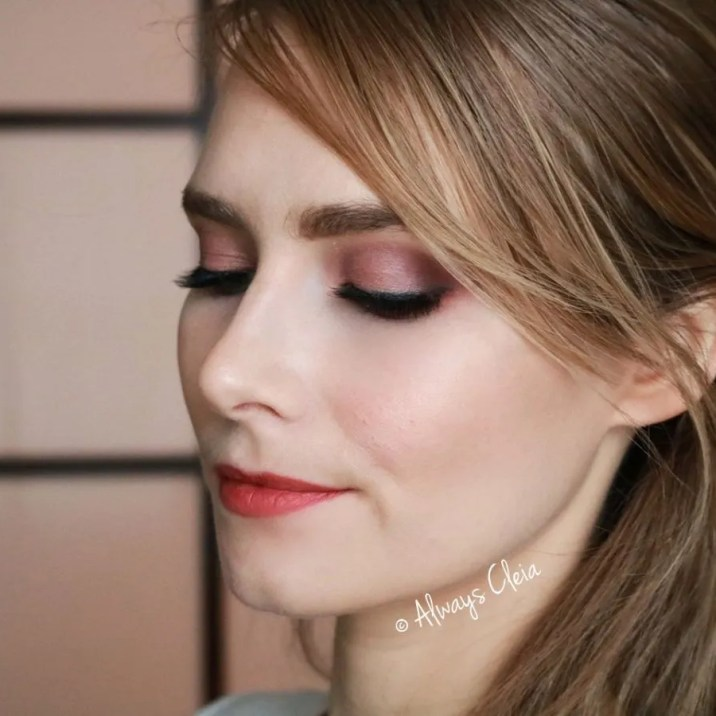 Rose all day Glam Reflections eyeshadow look