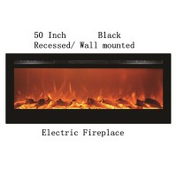 "50"" Black Built-in Recessed / Wall mounted Heater Electric ..."