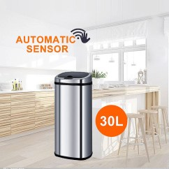 Stainless Kitchen Trash Can Banquettes Sensor Rubbish Bin | Dustbin Office ...