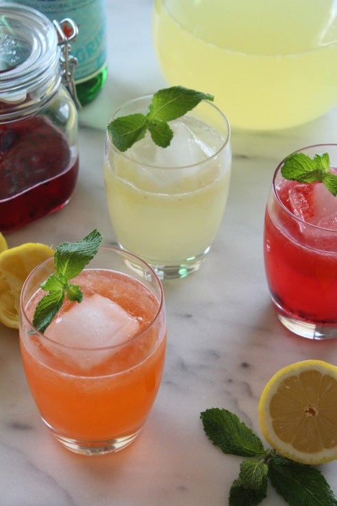 Sparkling Fruit Shrub Lemonade | alwayseatdessert.com