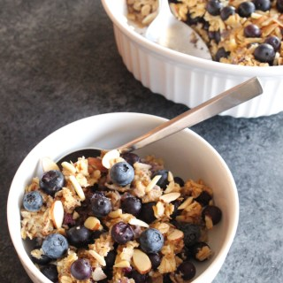 Maple Blueberry Almond Baked Oatmeal