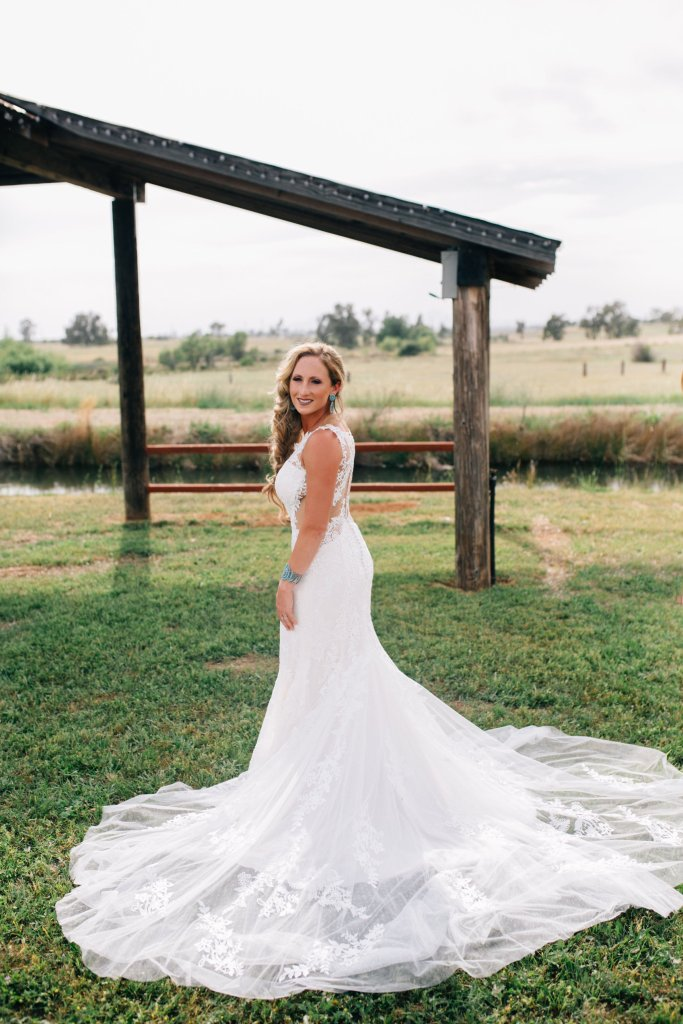 Lace Wedding Dress with Detail Back by Lillian West