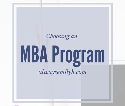 Choosing an MBA Program