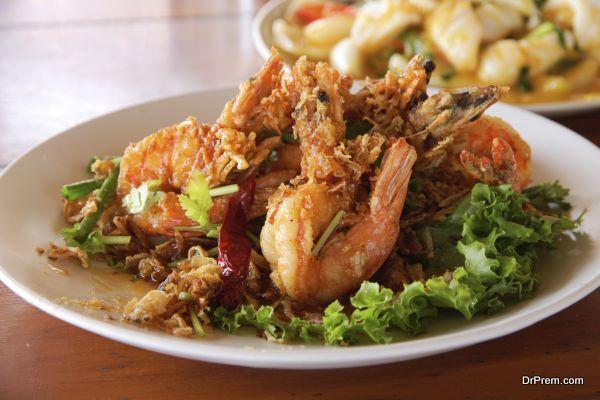Fried Shrimp with tamarind sauce 1