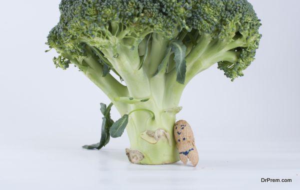 broccoli and peanuts