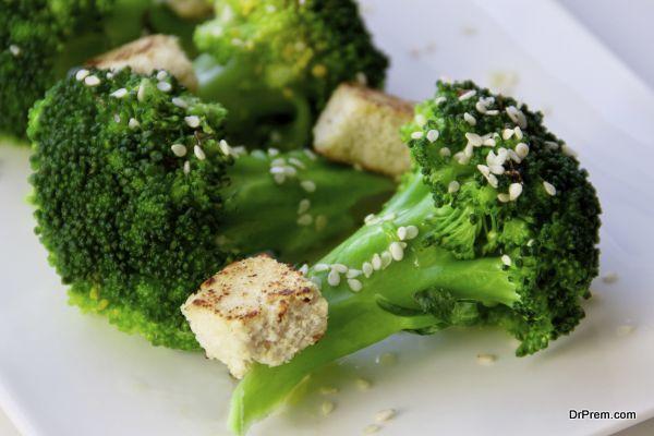 Broccoli and tofu