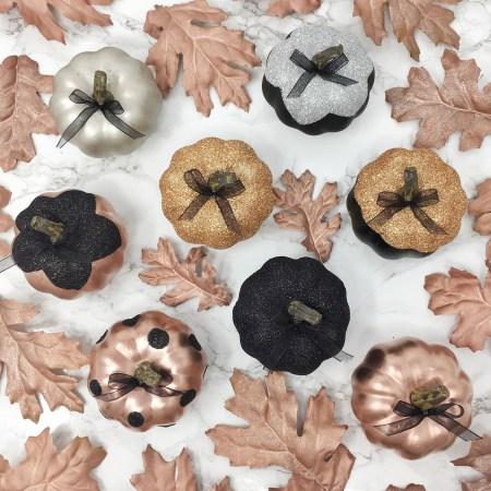 Fall DIY Glitter Pumpkins 05