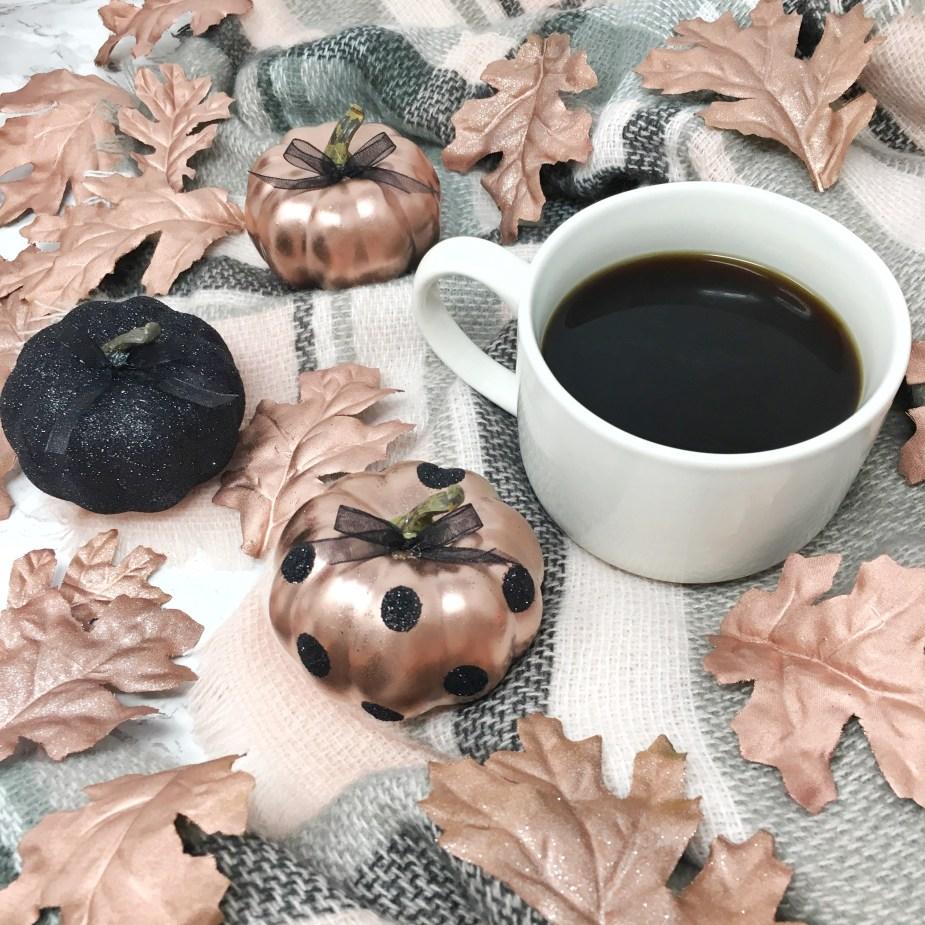 Fall DIY Glitter Pumpkins