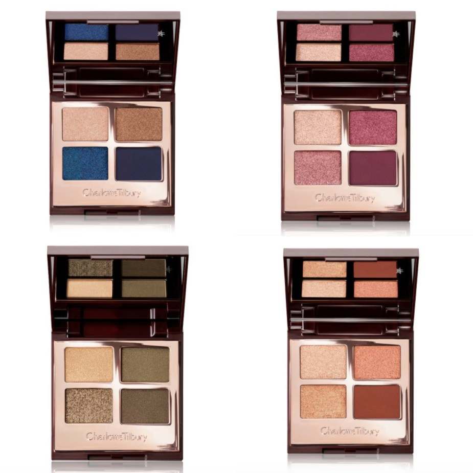 Charlotte Tilbury Super Blue Luxury Eyeshadow Palette, Mesmerizing Maroon, Green Lights, Copper Charge