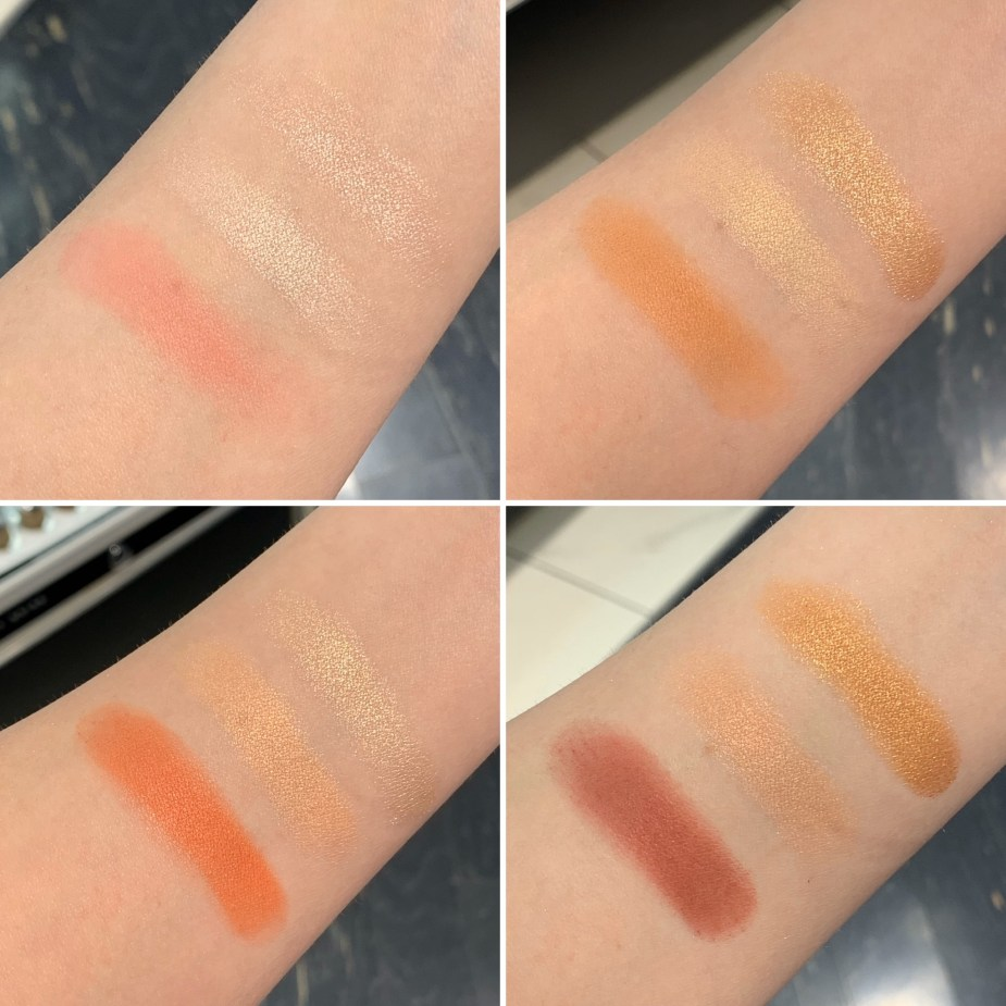 Collection Trio Face Palette Gleam, Empower, Radiate, Dare - Swatches and Review