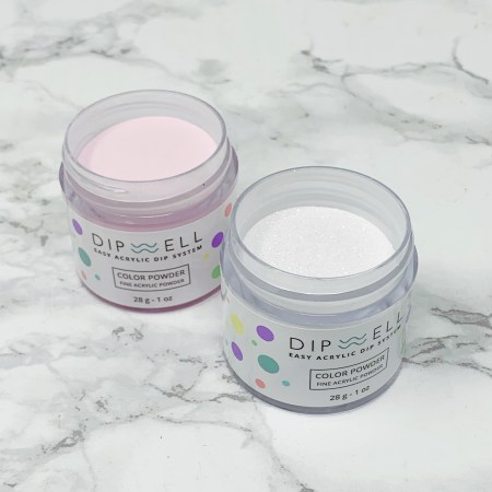 Dipwell Nail Kit Review PA-14 and GL-44 at home dip powder manicure