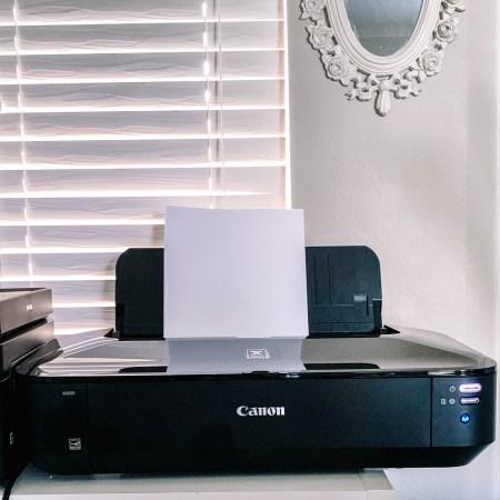 Canon Pixma iX6820 - home printer for heavy coverstock