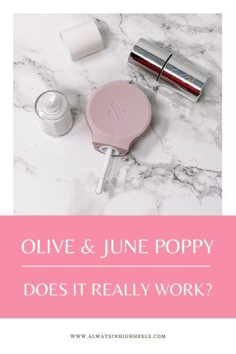 Olive & June Poppy Review Pinterest Pin 02