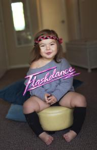"Getting her ""Flashdance"" on. (2014)"